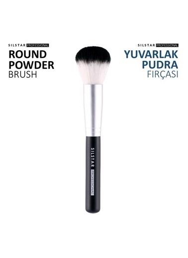 Silstar Round Powder Brush -Yuvarlak Pudra Fırçası Renksiz